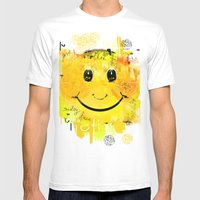Just another smiley face Mens Fitted Tee White SMALL