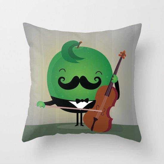 Lemon Chello Throw Pillow