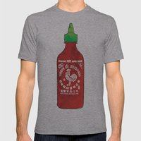 HOT SAUCE Mens Fitted Tee Athletic Grey SMALL