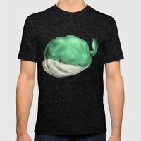 Tubby Sketch Whale Mens Fitted Tee Tri-Black SMALL