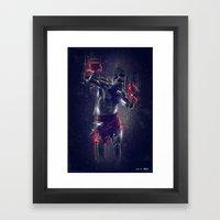 DARK BOXING Framed Art Print