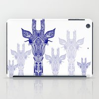 GIRAFFE BLUE iPad Case