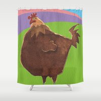 Big Rooster Shower Curtain