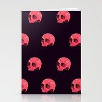 Pink Skull Pattern Stationery Cards