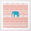 Elephant Blues Art Print