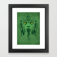 The Green Fairy Framed Art Print