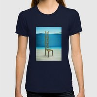 Waiting Place Womens Fitted Tee Navy SMALL