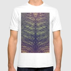 feather Mens Fitted Tee SMALL White