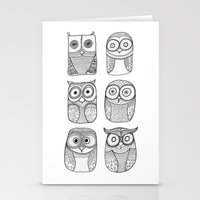 Six Pack (owl collective) Stationery Cards
