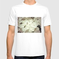hydrangea Mens Fitted Tee White SMALL