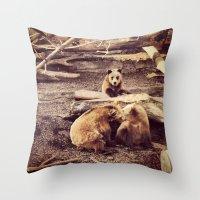 Bear with me... Throw Pillow