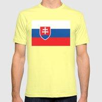 National flag of Slovakia Mens Fitted Tee Lemon SMALL