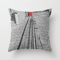 Train Line Throw Pillow