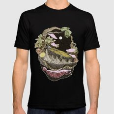 pure color nature SMALL Mens Fitted Tee Black