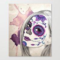 Sugar Skull Girl Canvas Print