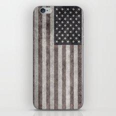 USA Flag Desaturated iPhone & iPod Skin