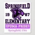 Springfield Elementary Pumas  |  Simpsons Canvas Print