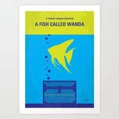 No389 My A Fish Called Wanda minimal movie poster Art Print