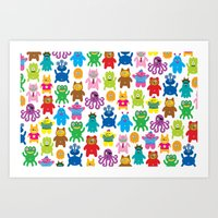 Monsters And Aliens Art Print