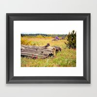 Beach Log Framed Art Print
