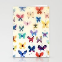 Butterfly watercolors Stationery Cards