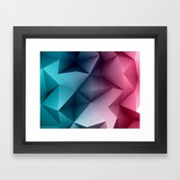 Polymetric Ocean Floor Framed Art Print
