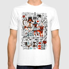 By The River SMALL White Mens Fitted Tee