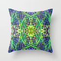 Tribal green Throw Pillow