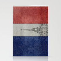 Distressed National Flag… Stationery Cards