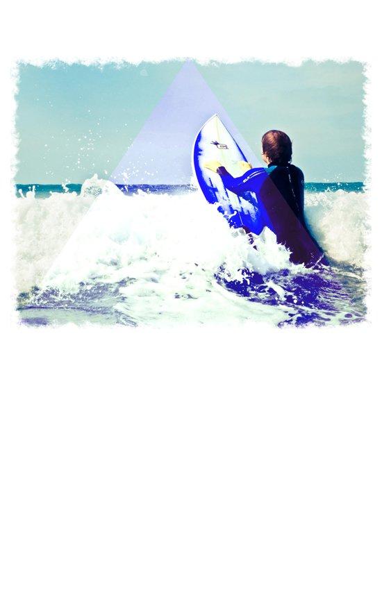 Surfing Devon Art Print