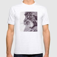 Big Cat Mens Fitted Tee Ash Grey SMALL