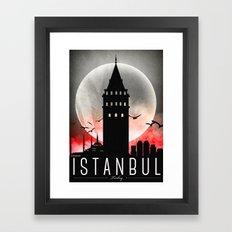 Black-White Galata Tower Istanbul Framed Art Print