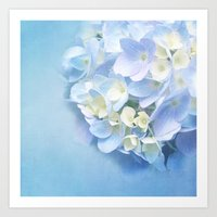 BABY BLUE FLOWER DREAM Art Print
