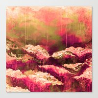 IT'S A ROSE COLORED LIFE… Canvas Print