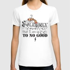I Solemnly Swear Womens Fitted Tee White SMALL
