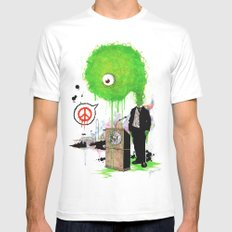Mr. President White SMALL Mens Fitted Tee