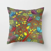 Butterflies-5 Throw Pillow