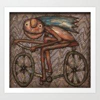 The Biker Art Print