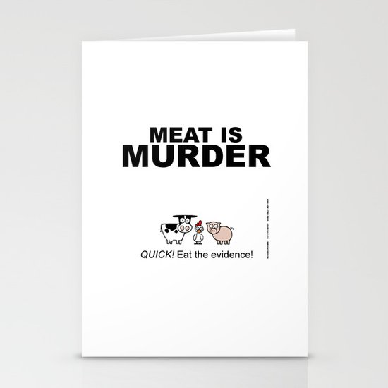 MEAT IS (tasty) MURDER Stationery Card