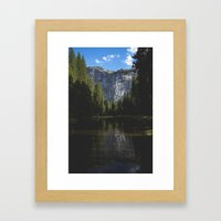 Yosemite National Park - Reflection of Mountains Framed Art Print