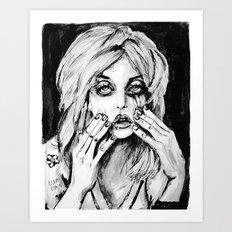 courtney love cobain no.2 Art Print