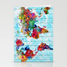 Woodside World Map Stationery Cards