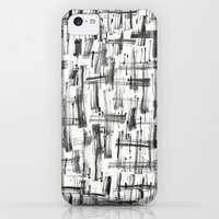 iPhone Cases featuring Black Strokes by Crystal Manning