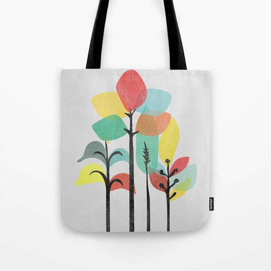 Tropical Groove (gray) Tote Bag