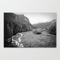 Mountain Valley B&W Canvas Print