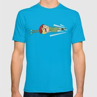 Spiral Arrow Mens Fitted Tee Teal SMALL