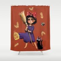Kiki and Jiji Shower Curtain