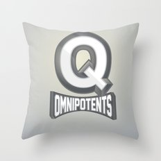 Q Omnipotents Throw Pillow