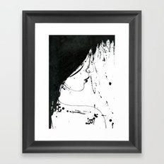 Inked Girl Framed Art Print