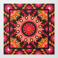 Ethnic Asian Ornament Canvas Print